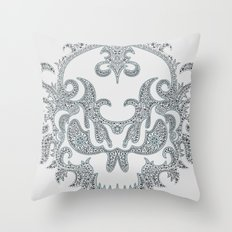Killer Skull Throw Pillow