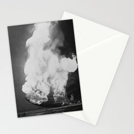 Hindenburg in flames Stationery Cards