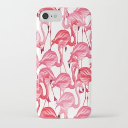 Flamingo patterns 3 iPhone Case
