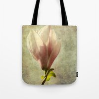 magnolia Tote Bags featuring magnolia by John Beswick