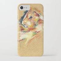 guinea pig iPhone & iPod Cases featuring Guinea pig II by Anaïs Chesnoy