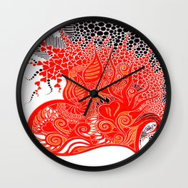 Open Hearted Wall Clock