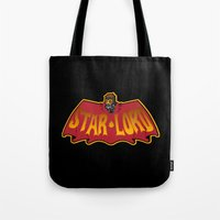 star lord Tote Bags featuring Bat- Star Lord by Buby87