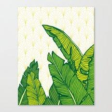 Tropical Leaves #society6 #decor #buyart Canvas Print