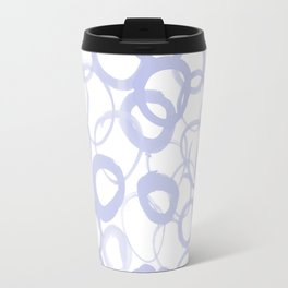 Watercolor Circle Pale Blue Travel Mug