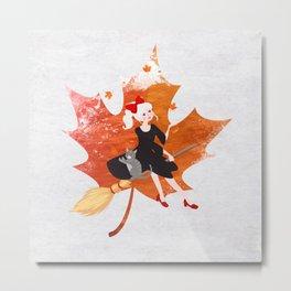 Autumn Girl Metal Print