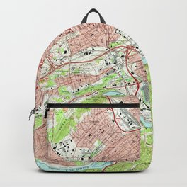 Vintage Map of Knoxville Tennessee (1966) Backpack