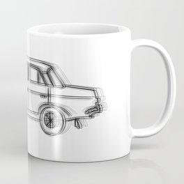USSR Car Drawing Coffee Mug