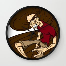 Hairy On The Lo Wall Clock