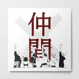 One Piece X Nakama Metal Print