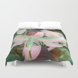 Auras Dancing with the Lilies  Duvet Cover