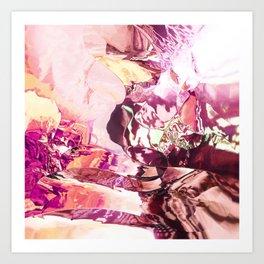 Pink planet sunrise Art Print