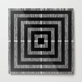 Static Square Metal Print