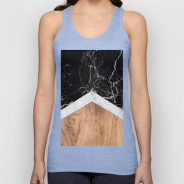 Arrows - Black Granite, White Marble & Wood #366 Unisex Tank Top