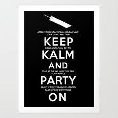 Final Fantasy 7: Keep Kalm Art Print