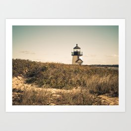Nantucket Lighthouse Art Print