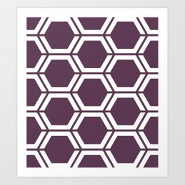 Dark byzantium - violet - Geometric Polygon Pattern Art Print