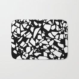 Terrazzo White on Black Bath Mat