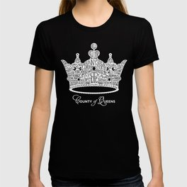 County of Queens | NYC Borough Crown (WHITE) T-shirt
