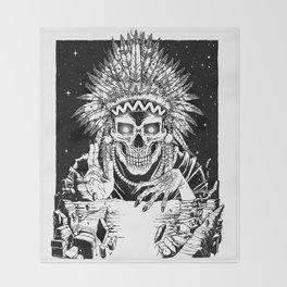 INVASION - Black and white variant Throw Blanket