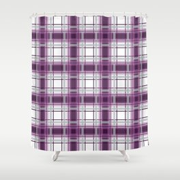 Plaid in Mauve, Pink and Gray Shower Curtain
