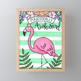 Awkward Flamingo Framed Mini Art Print