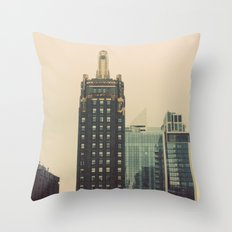Carbide and Carbon Building Chicago Throw Pillow