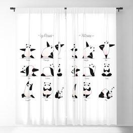 Yoga Panda II Blackout Curtain