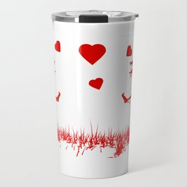 Zombies in Love Red Travel Mug