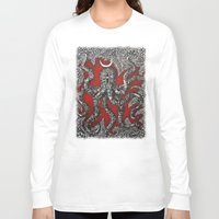 octopus Long Sleeve T-shirts featuring Octopus by Sherdeb Akadan
