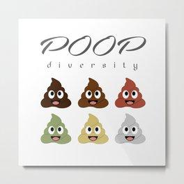 Poop diversity- Types of poop happy emoticons Metal Print