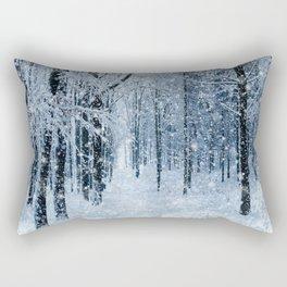 Winter wonderland scenery forest  Rectangular Pillow