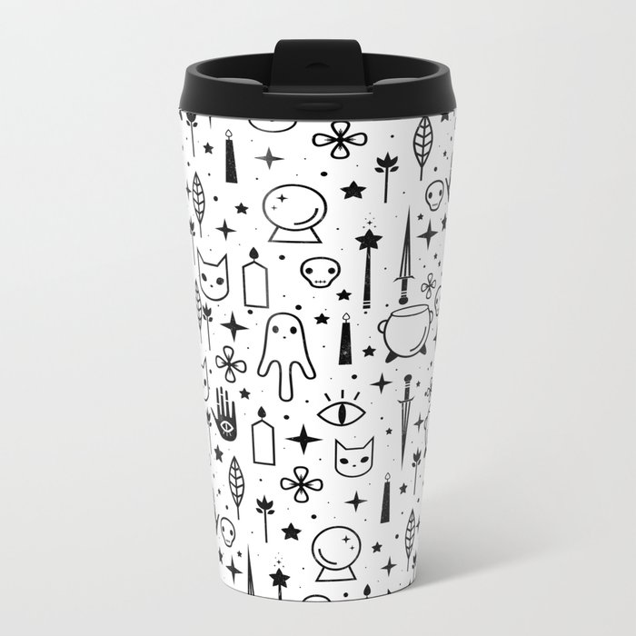 Spirit Symbols White Travel Mug
