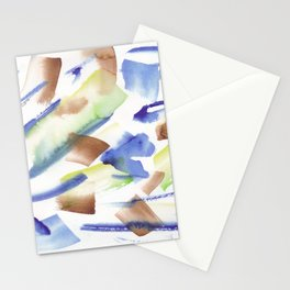 180719 Koh-I-Noor Watercolour Abstract 35| Watercolor Brush Strokes Stationery Cards