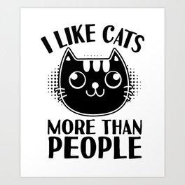 cat catastrophe pun sarcasm gift Art Print