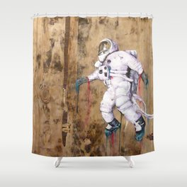 My Father became an Astronaut to young Shower Curtain