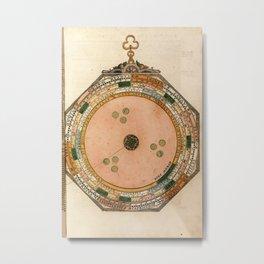 Peter Apian - Astronomicum Caesareum 1540 - Plate 28 Diagram to Determine Star Sign Metal Print
