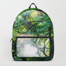 The enchanted woods | Bright tropical forest palm tree exotic green photography Backpack