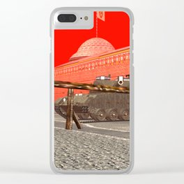 SquaRed: You Shall Not Pass At Least By Ground Clear iPhone Case