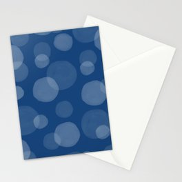 Blue Circles Stationery Cards