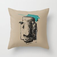 totem Throw Pillows featuring Totem by Mauricio Cosío
