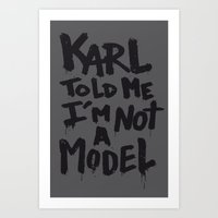 karl Art Prints featuring Karl told me... by Ludovic Jacqz