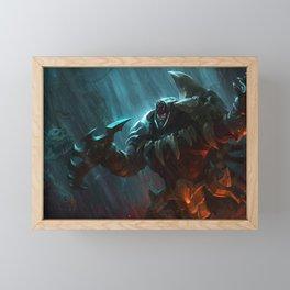 Headhunter Rengar League of Legends Framed Mini Art Print