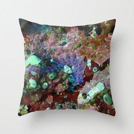 Long convoluted purple nudibranch Throw Pillow