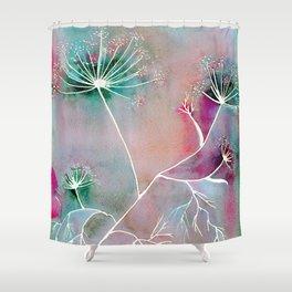 Funky Fennel Fireworks Shower Curtain