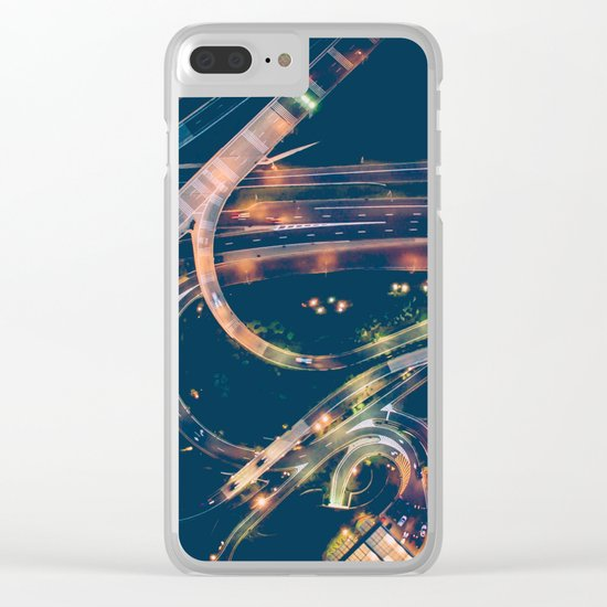 City in the sky fantastic Clear iPhone Case