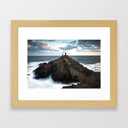 Jerbourg point Framed Art Print