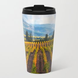 Autumn Vineyard Vista Travel Mug