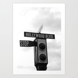 Hollywood Blvd Art Print
