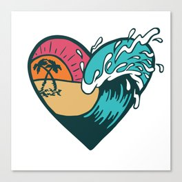 Wave Heart Canvas Print